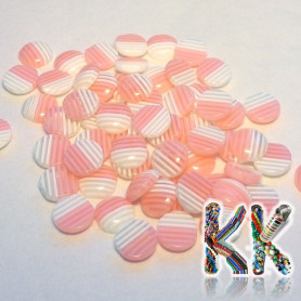 Resin seed - transparent striped colored - ∅ 8 x 3.5 mm