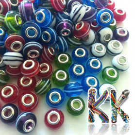 Bead with wide thread - roundel - ∅ 14 mm