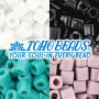 Japanese pearl beads brand TOHO in the shape of cubes in size 6/0 (edge length 4 mm) with an opaque surface.THE PRICE IS FOR 1 g.