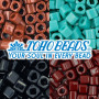 Japanese pearl beads brand TOHO in the shape of cubes in size 8/0 (edge length 3 mm) with an opaque surface.THE PRICE IS FOR 1 g.