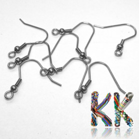 Afro hooks with a spring made of surgical steel