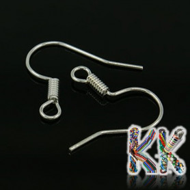 Afro hooks with spring - 16 x 14 mm (1 pair)