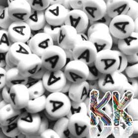 Beads with letters - whole alphabet - ∅ 7 x 4 mm