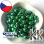 Opaque seed beads of the Czech brand Preciosa with a mother-of-pearl surface treatment with a bead diameter of 8.1 mm and a hole for a 3.5 mm thread.THE PRICE IS FOR 5 g.