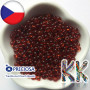 Preciosa Drops seed beads with a transparent surface in size 5/0 (Ø 4.6 mm) with an eccentric hole for a thread with a diameter of 1.2 mm.THE LISTED PRICE IS FOR 1 g (minimum order is 10 g).