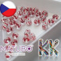 A unique pressed two-hole bead by MATUBO ™ with a transparent surface and a colored drawstring, dimensions 2.5 x 5 mm and holes for a thread with a diameter of 0.8 mm.THE LISTED PRICE IS FOR 1 g (minimum order is 5 g).