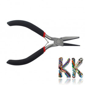 Knotting pliers - combined round and flat