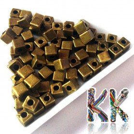 Separating bead made of zinc alloy - cube - 4 x 4 x 4 mm