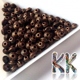 Separating bead made of zinc alloy - roundel - Ø 5 x 3 mm